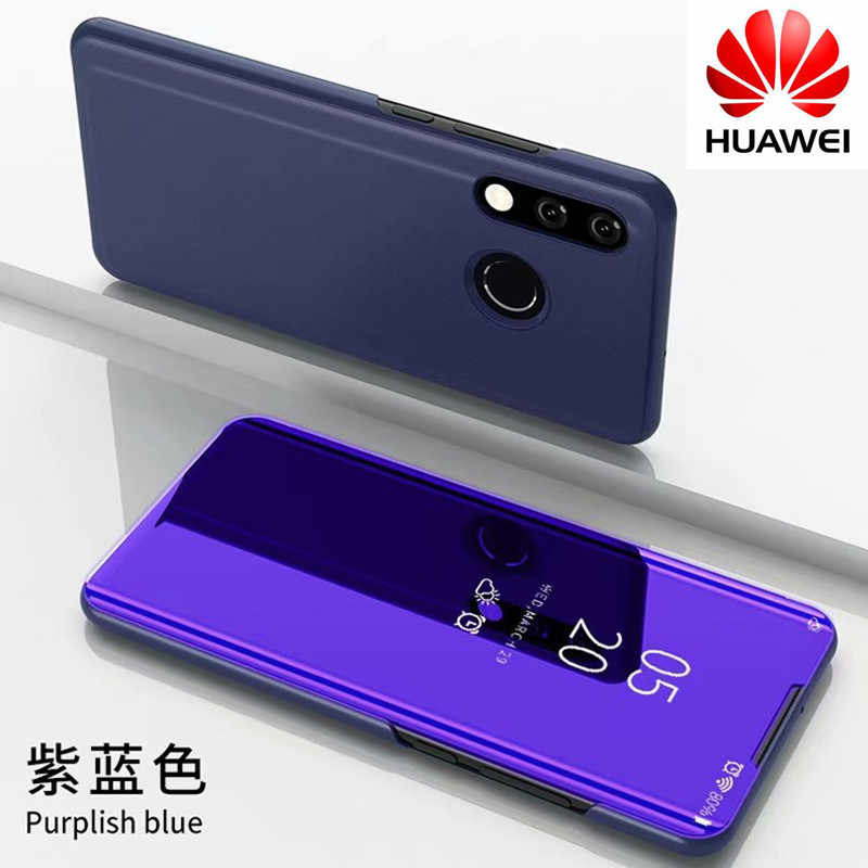 Flip Standing Case For Huawei P20 Lite P10 P30 Mate 10 Pro 20 20X Mirror Cases For Huawei Honor 10 9 Lite P Smart 2019 Cover