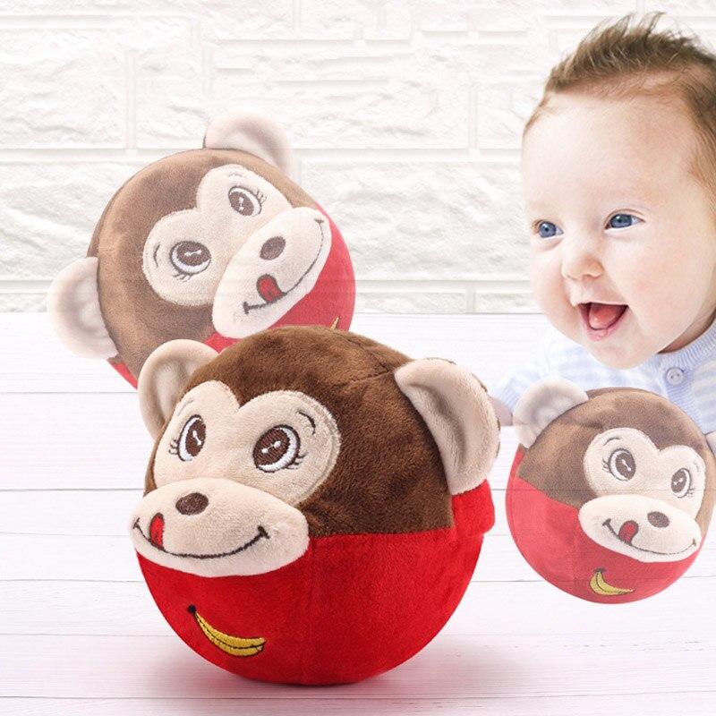 Jouets pour bébés 13 24 mois Singe Électrique Parler Jouets ballon rebondissant Apprennent Tabouret Battre chanter et saut Bébé Enfants Cadeau