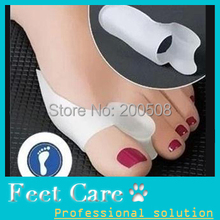 Free Shipping Hallux valgus orthotics Toe separator corrective insoles Toes cloven device