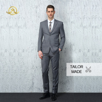 Wrwcm Custom Men Suit High Quality Custom Tailored Gray 100% Wool Support Enterprise Customization Gentleman Style Custom Made