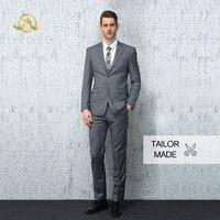 Wrwcm Custom Men Suit High Quality Custom Tailored Gray 100% Wool Support Enterprise Customization Gentleman Style Custom Made