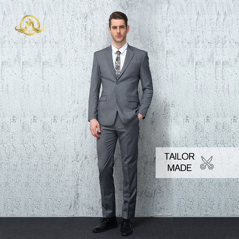 Wrwcm Personnalisé costume pour homme qualité supérieure Sur Mesure Gris 100% Laine Appuient L'entreprise Personnalisation Gentleman Style fait sur mesure