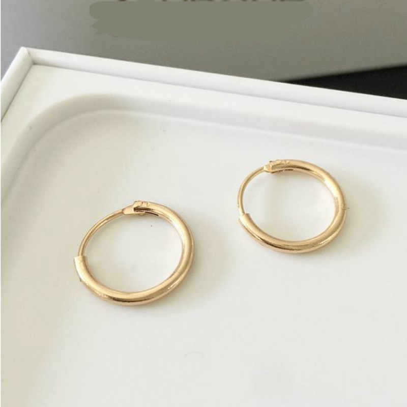 2017 With Fashion Personality Circle Earrings Brass Men And Women Can Wear Earrings Jewelry Wholesale  Gold Silver Ear Rings
