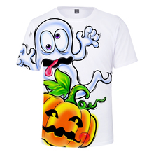 LUCKYFRIDAYF Happy Halloween Short Sleeve Cool Funny Pumpkin T-shirts Print Men/Women Summer T Shirts Tops Tee Plus Size4XL