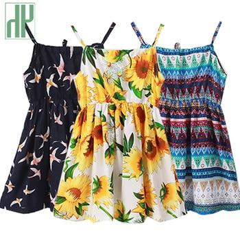 03be1fc06806e10 Детское платье трапециевидной формы, летнее платье без рукавов с ...