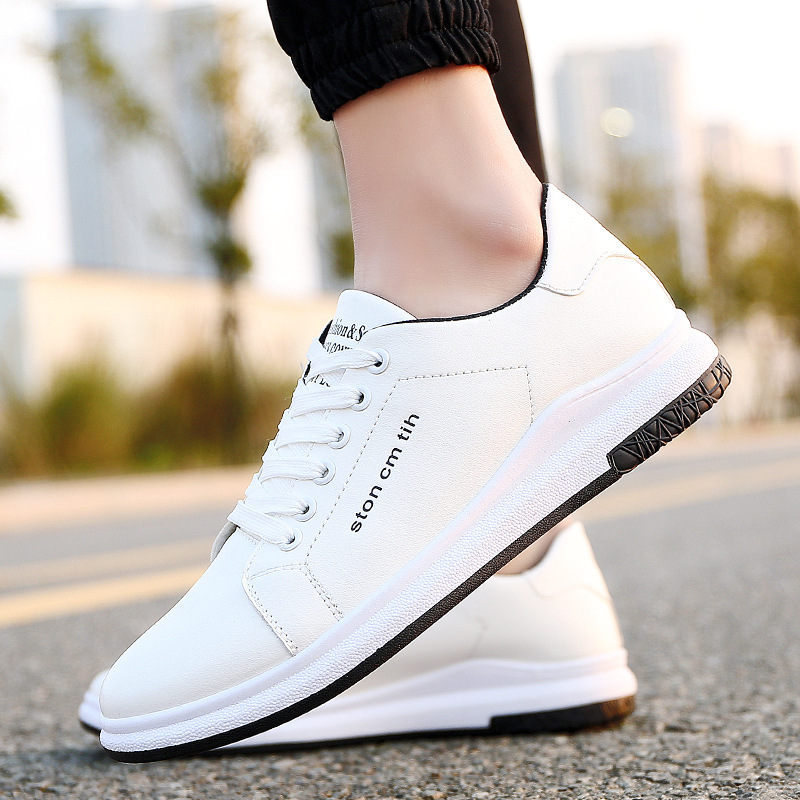 Men sneakers 2018 new breathable pu leather men shoes tenis masculino adulto spring lace-up casual flats shoes men cirohuner leather casual men shoes male lace up flats black men krasovki flat heel sneakers tenis masculino comfortable shoes
