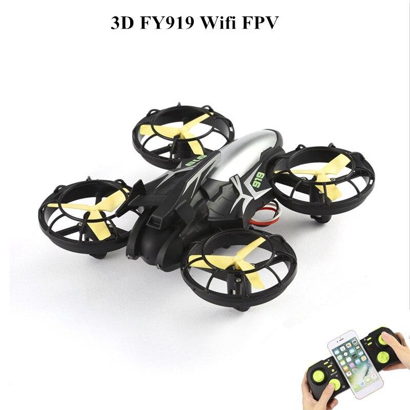 Nouveau VKIR23122 volant 3D FY919 Wifi FPV avec positionnement optique Somatosensory Direction Mode Drone Quad CopterNouveau VKIR23122 volant 3D FY919 Wifi FPV avec positionnement optique Somatosensory Direction Mode Drone Quad Copter