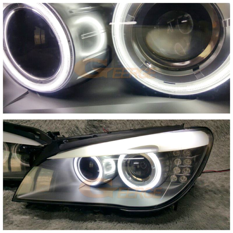 BMW F01 F02 F03 F04 750 760 BI-XENON HEADLIGHTS 2008-2012 ccfl angel eyes(21)