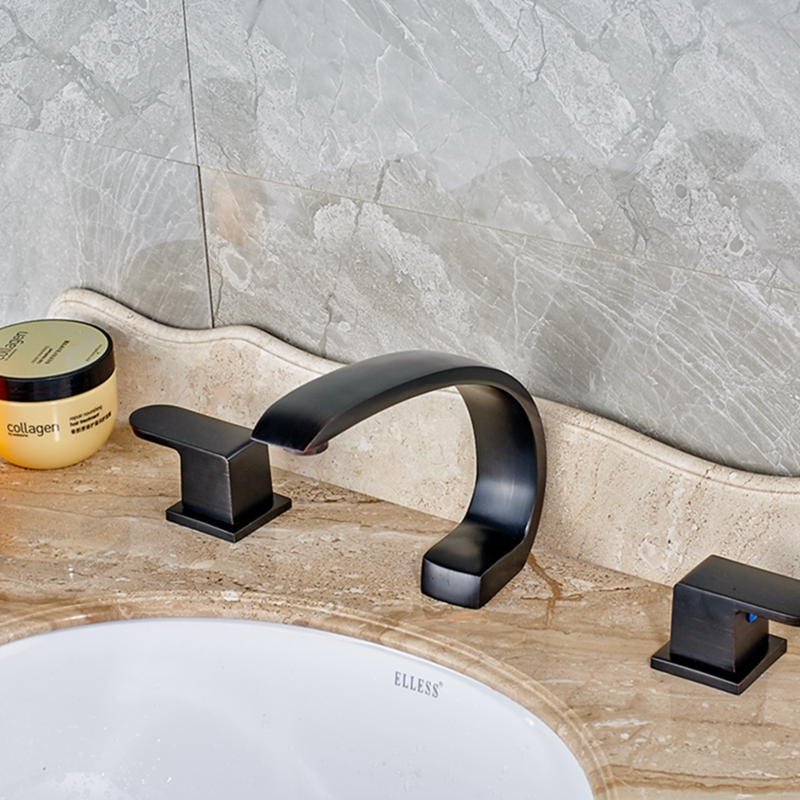 Widespread Oil Rubbed Bronze Bathroom Faucet Tub Spout Dual Handles Mixer Tap варежки modo gru modo gru mo004dwool18