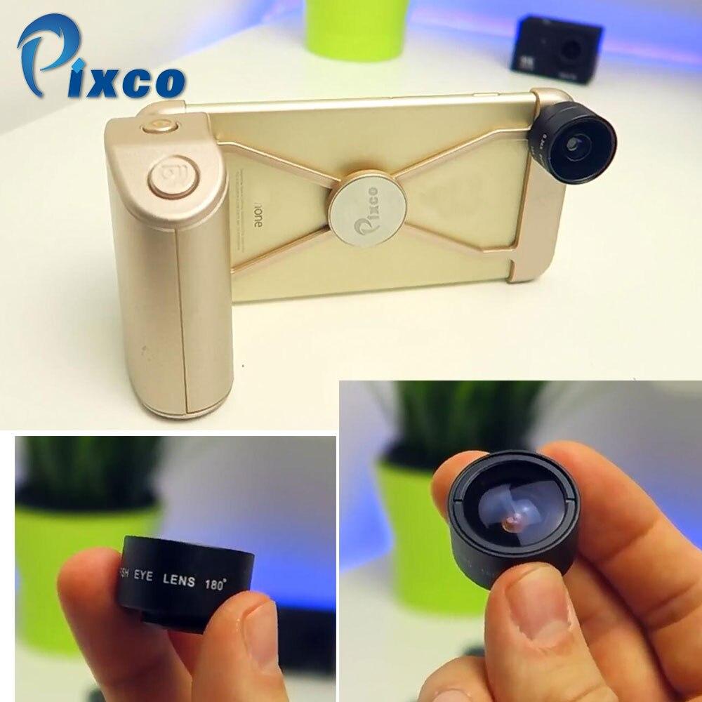 Pixco Handheld Mobile phone accessories Magical Professional HD Fisheye Tele Lens Wide Angle Kit Phone Case
