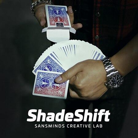 Shadeshift (truque e dvd) por sanminds laboratório criativo/close-up rua cartão truques mágicos produtos brinquedos atacado frete grátis