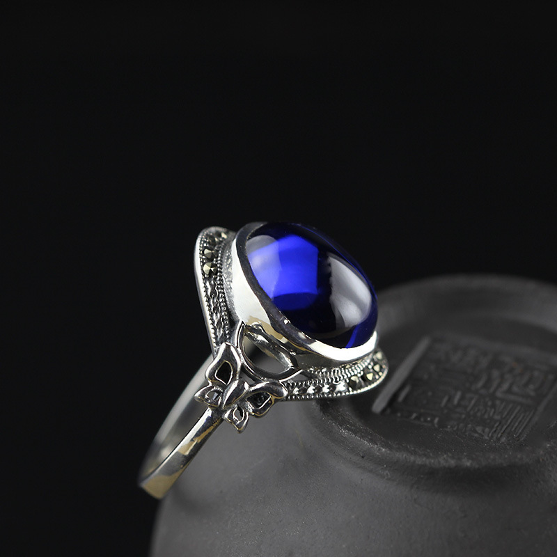 The character of S925 silver jewelry Fashion Blue Butterfly Ring