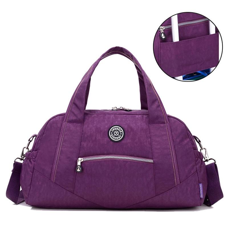Vintage Casual Nylon Travel Bags Women Tote Luggage Purse Waterproof Handbags Shoulder Bags Large Capacity Training Bag XA649WB