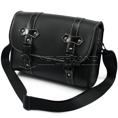 Black Motorcycle Saddle Bags Leather Side Tool Bag Luggage mochila moto for Harley Universal Wholesale D20