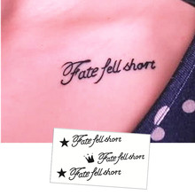 M-theory Letter Letter Flash Tatoos Hand Sticker 10.5x6cm Fake Temporary Tattoos Body Art Sticker Swimsuit Bikini Makeup