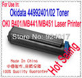Para Oki 44992402 44992401 Recarga de Toner, Cartucho de Toner Para Okidata MB451 MB451W MB441 B401 B401D B401DN Printer, Para Oki 401 451
