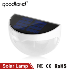 Goodland LED Solar Light Waterproof IP55 6 LED Solar Lamp Outdoor Lighting Wall Lamps With Light Control For Home Decoration
