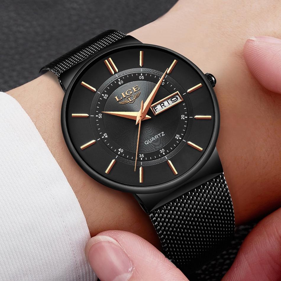 the best attitude 6cbad cd37c US $18.99 45% OFF LIGE 腕時計メンズシンプルなファッションスイスブランドクォーツ時計の高級クリエイティブ防水日付腕時計レロジオ  Masculino - Aliexpress.com   Alibaba グループ上の 腕時計 からの クォーツ時計 の中