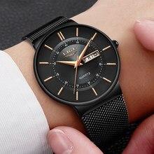LIGE – montre à Quartz pour hommes, Simple, mode suisse, marque de luxe créative, étanche, Date décontractée