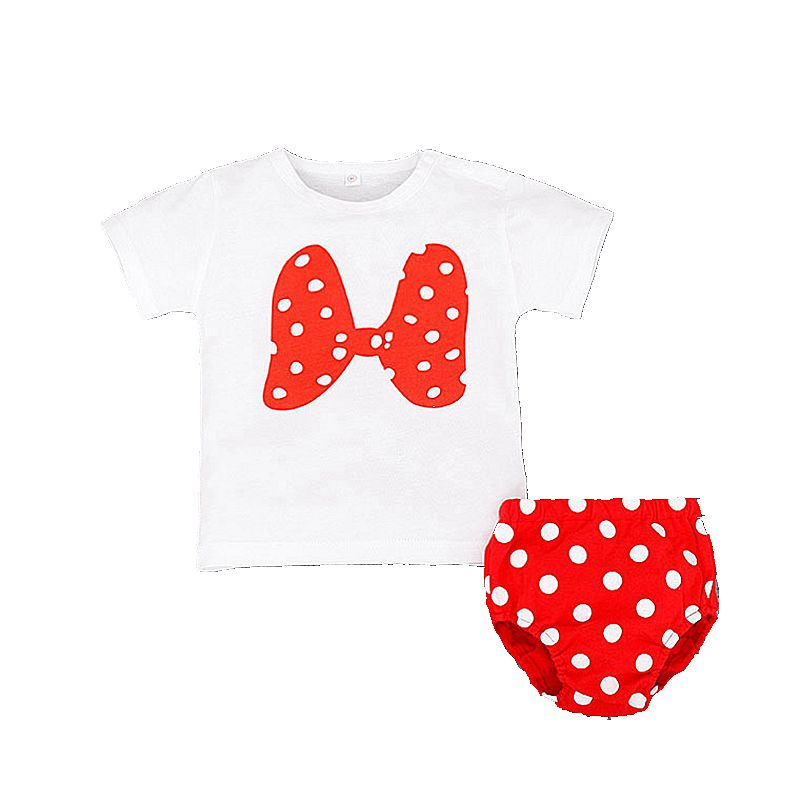 0-2 Years Baby Girls Clothing Set Summer 2017 New Cute Childrens Sets Fashion Toddler Outfit 2Pcs Girls t shirt+panties T4998