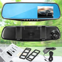 Fazer a Promoção. HD 1080P 2.8 LCD Da Câmera Gravador de Vídeo de Visão Noturna DVR Tela Espelho Retrovisor Traço Cam Câmera