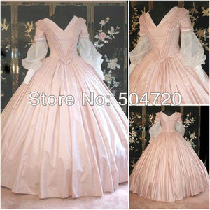 Бесплатная доставка! 19 розовый Гражданская война Southern Belle в викторианском стиле Lolita/scarlett платье US6-26 V-302