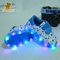 2017 nuevos niños de iluminación shoes moda niños niñas luminoso sneakers kids running sport shoes primavera antideslizante toddler shoes