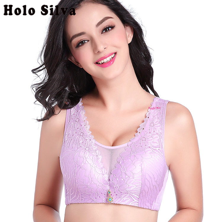 Push Up Bra Sexy Women's Intimates Deep V Big Size Full Cup Lace Bra Women lingerie Beauty Back Women Vest Underwear Bralette