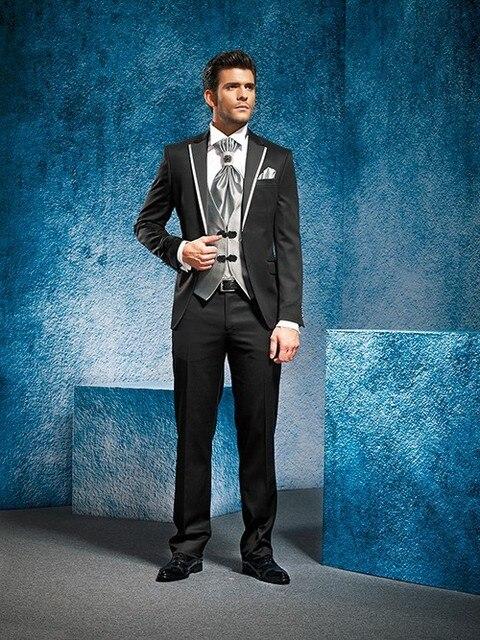 2017 Latest Coat Pant Designs Italian Black Men Suit Prom Jacket ...