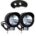 2 Pcs/lot 3W Universal Car Motorcycle Headlight led DRL Fog light Spot Light Lamp Angle Eyes 12-80V