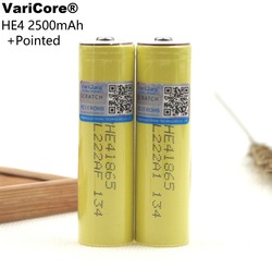 2PCS 100% New Original HE4 18650 Rechargeable li-lon battery 3.6V 2500mAh Battery 20A 35A discharge + Pointed