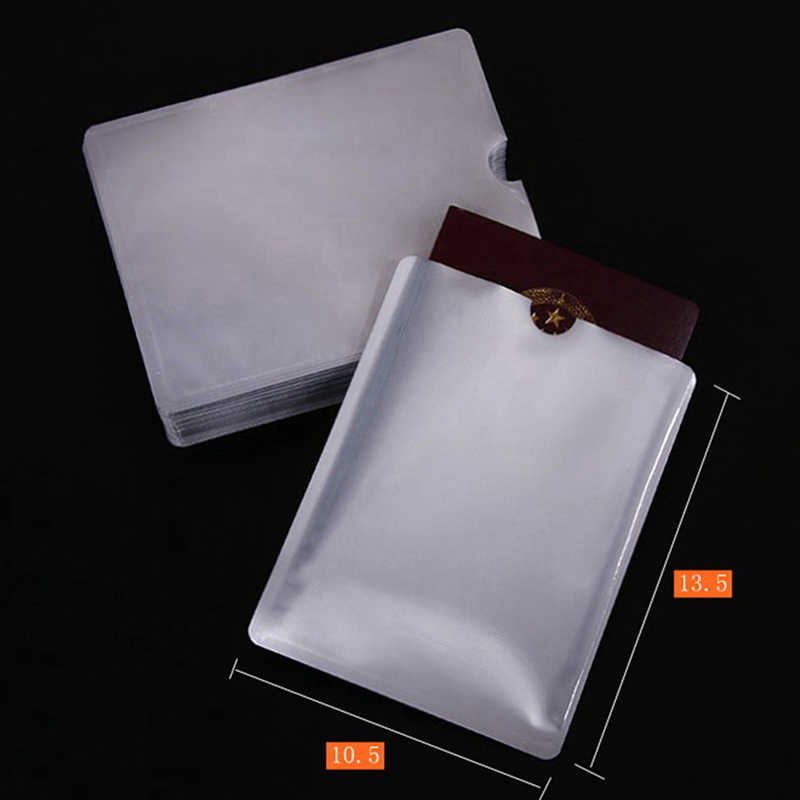 1/10/100Pcs 9.6*6cm Aluminium Anti Rfid Wallet Blocking Reader Lock Bank Card Holder ID Bank Card Case Protection Metal