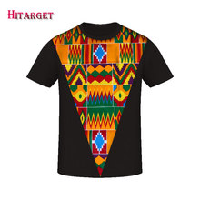 Hitarget New 2019 Style African Print t Shirt Short Sleeve Casual Tops Men Dashiki Plus Size Clothing WYN339