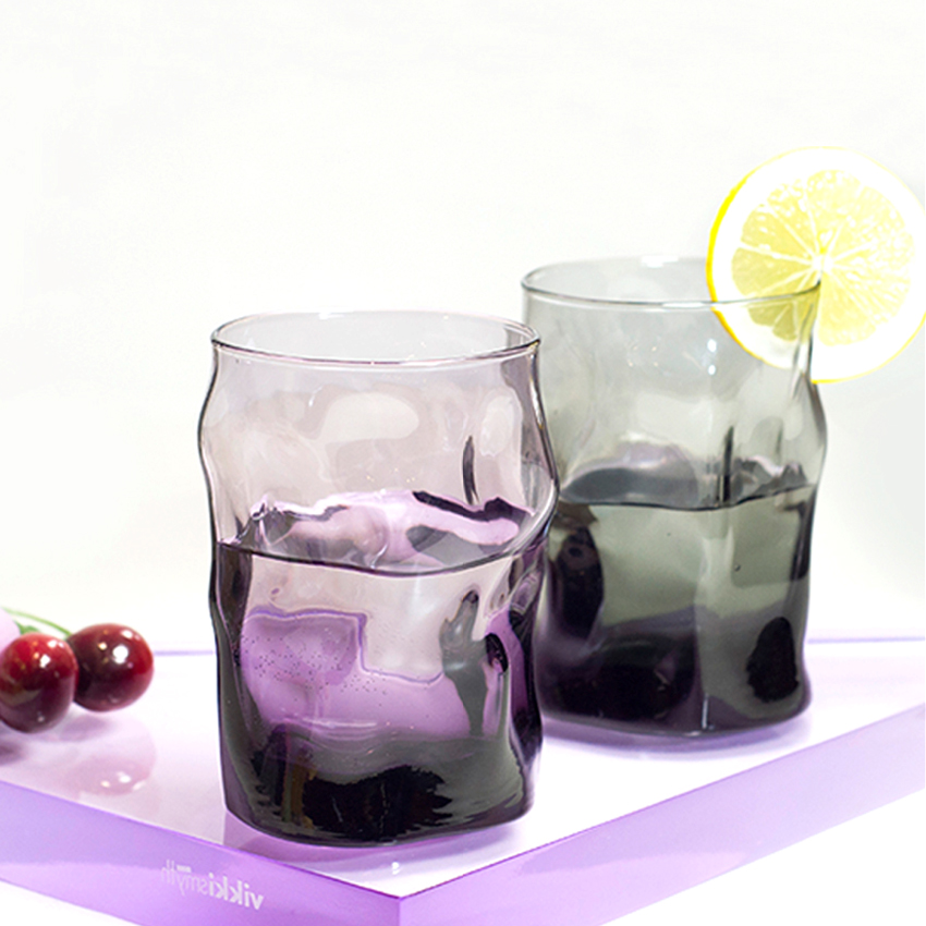 Creative color transparent glass home heat resistant tea cup juice cup cold drink cup romantic Transparent Party beer glass in Other Glass from Home Garden