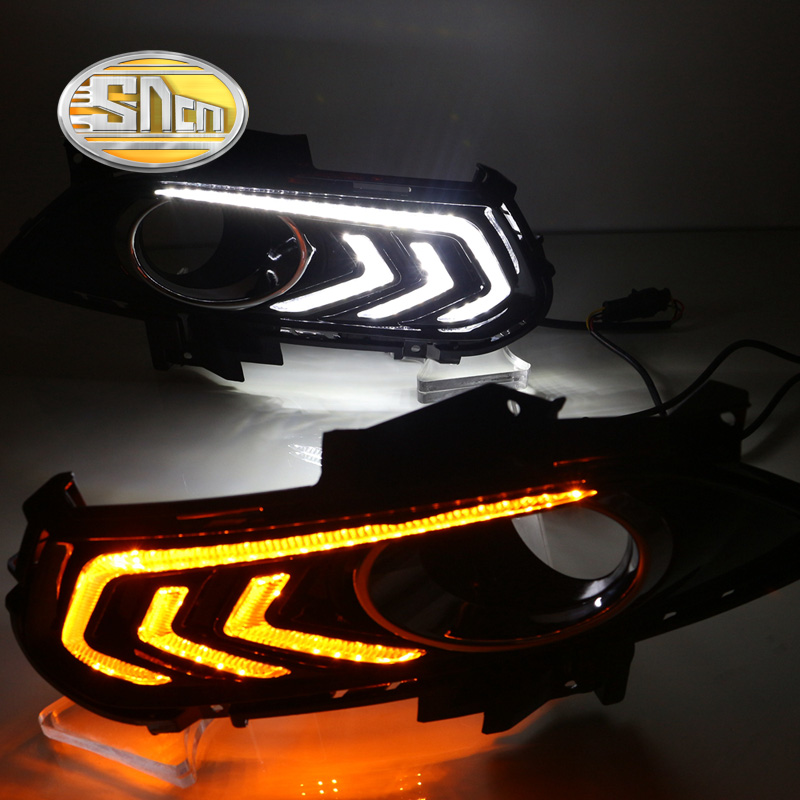 SNCN LED Daytime Running Light For Ford Fusion Mondeo 2013 - 2016,Car Accessories Waterproof ABS 12V DRL Fog Lamp Decoration for toyota camry led headlights car styling 2015 for camry xenon headlights led drl light guide bifocal lens headlight light