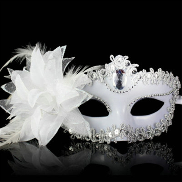 9 Color Sexy Diamond Venetian Mask Venice Feather Flower Wedding Carnival Party Performance Costume Sex Lady Mask Masquerade Hot