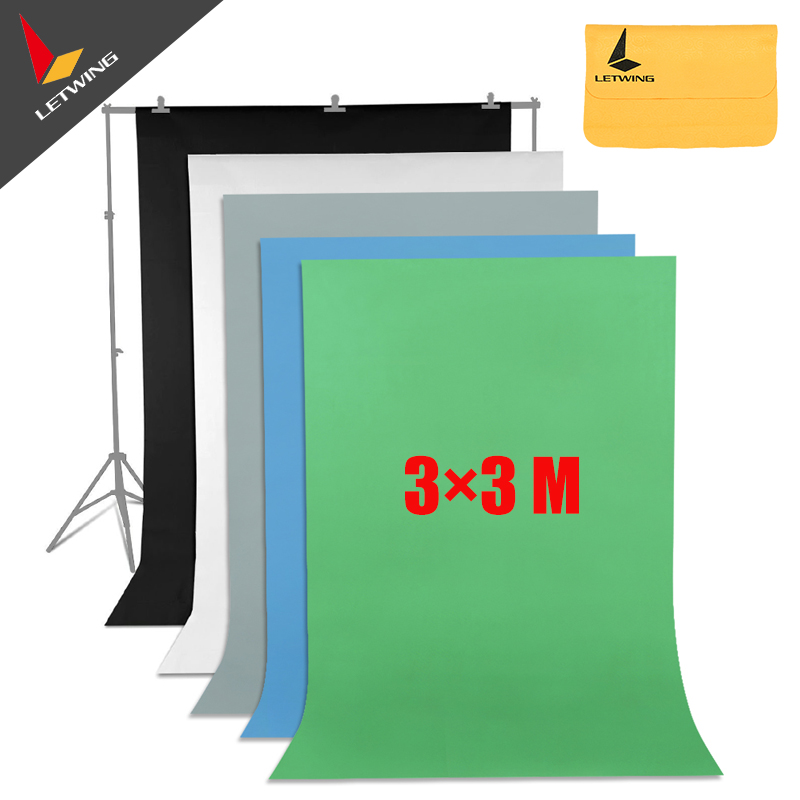 High Quality Green Non-woven Fabric 3*3 M 10x10ft  Background Backdrop for Studio Photo lighting supon 6 color options screen chroma key 3 x 5m background backdrop cloth for studio photo lighting non woven fabrics backdrop