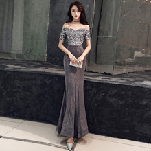 2019 Sparkly Silver Sheer V Neck Mermaid Prom Dresses Sequins Beaded Backless Chic Evening Gowns Formal Party Dress Ballkleid
