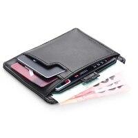Modern Luxury Brand 100 Cow Genuine Leather 0 38cm Super Slim Men Wallets Card Holder Purse