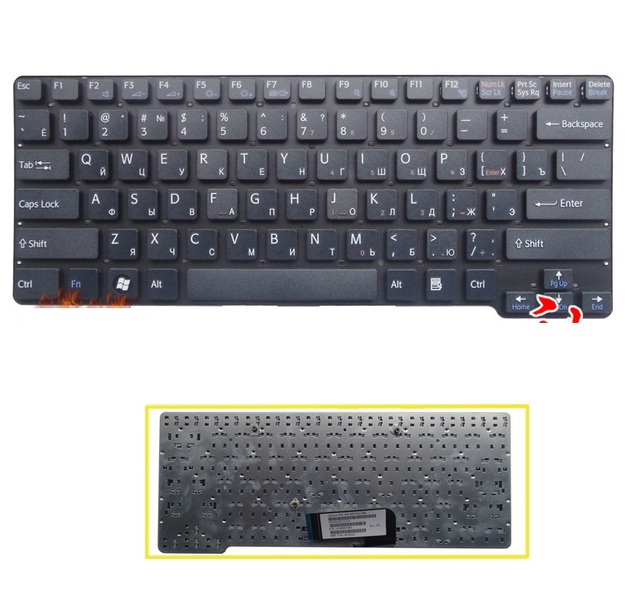 New laptop RU Keyboard for Sony Vaio VGN-CW VGN CW series CW2S3C CW2S6C CW16EC CW28EC Russian Keyboard
