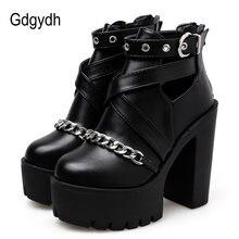 Gdgydh/большой размер 42; Модная женская обувь с цепочкой; Ботильоны