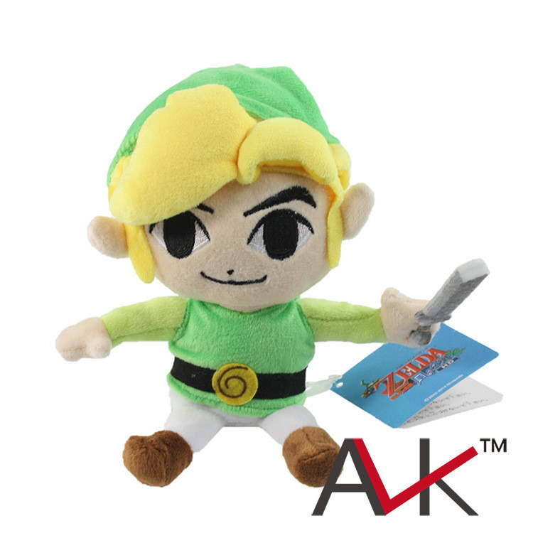 Free Shipping Wholesale 10pcs/lot The Legend of Zelda Link Plush Stuffed Toy Doll 7 inch 17cm Kids Good Birthday Gift Dolls wholesale husky plush toy dog 40cm the whole network lowest price free shipping