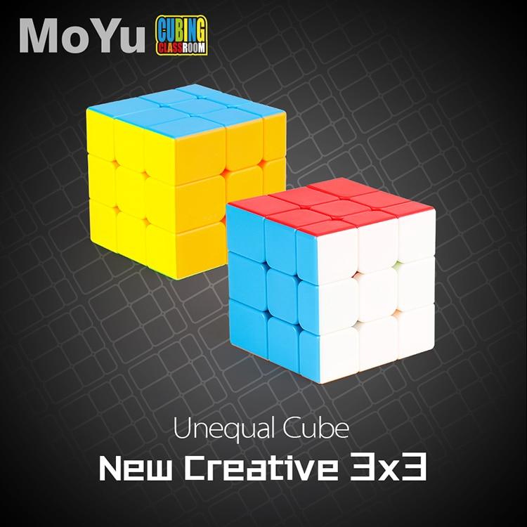 New MoYu Mofangjiaoshi Unequal 3x3x3 Cube Magic Cube Puzzle Stickerless 3x3 Speed Cubes Shape Twist Educational Kid Toys Game