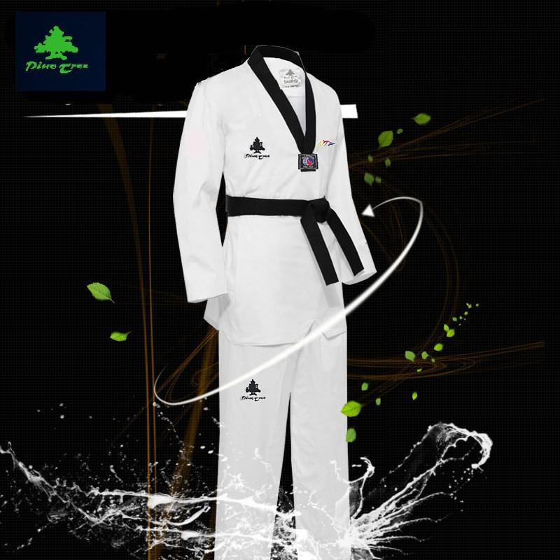 ФОТО WTF Mooto taekwondo dobok clothes child adult MOOTO ITF Karate suit Taekwondo uniform Karate clothes size XXXL-XXXS