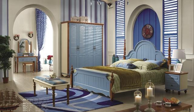 2017 Chinese Supplier Newest Mediterranean Style Dubai Bedroom Furniture 6605