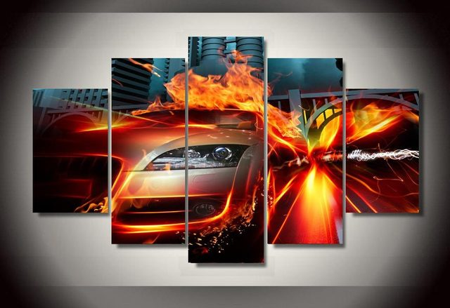 Hd Printed Fast Cars Painting On Canvas Decoration Print Poster