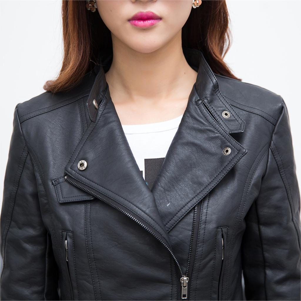 Online Shop Women Leather Jacket With Bulk Classic Black Girls ...