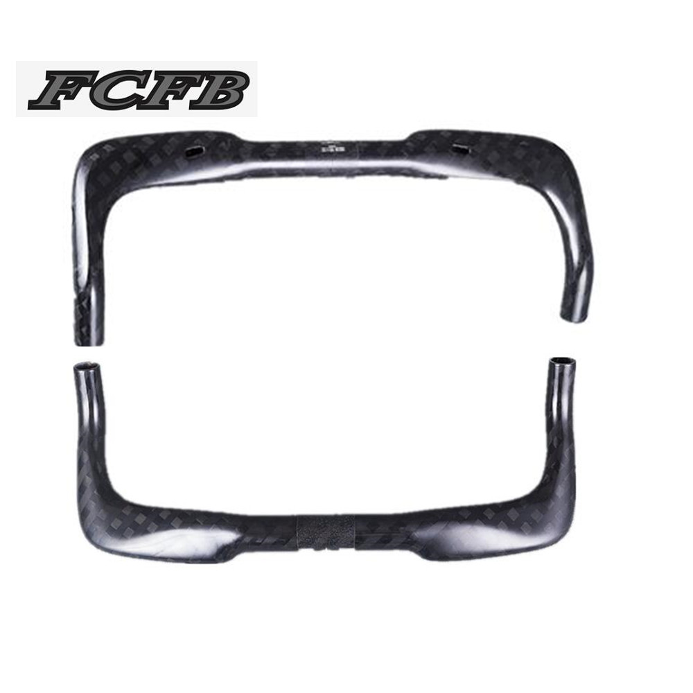 FCFB no logo  12K Glossy 31.8mm Carbon Fiber Road Bike TT Bullhorn Bar Bicycle Racing Handlebar 380/400/420/440/460mm hot racing italy horse logo fxx k