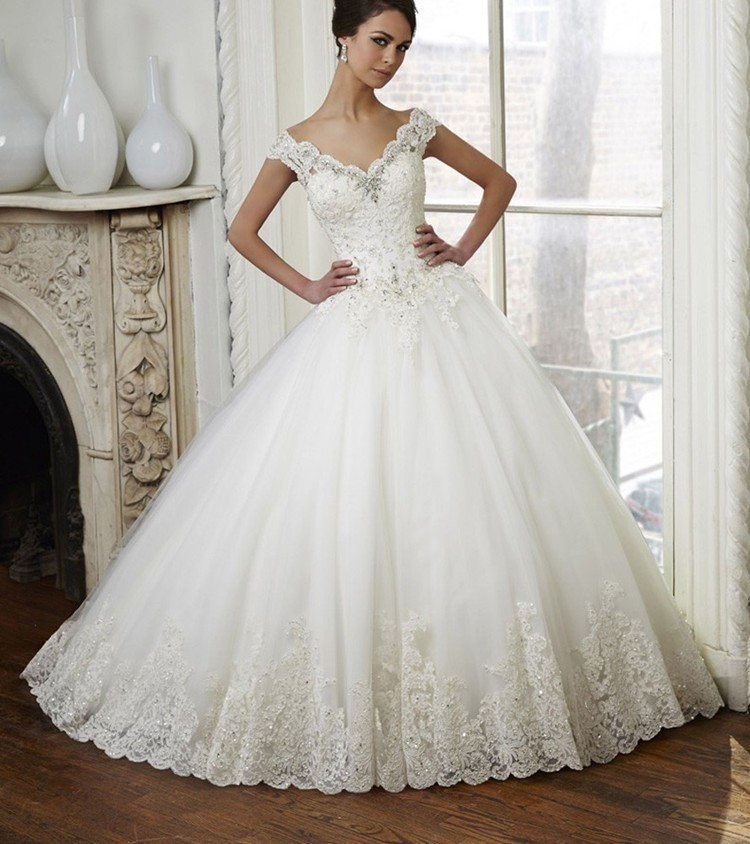 Online Buy Wholesale lace ball gown wedding dress from China lace ...