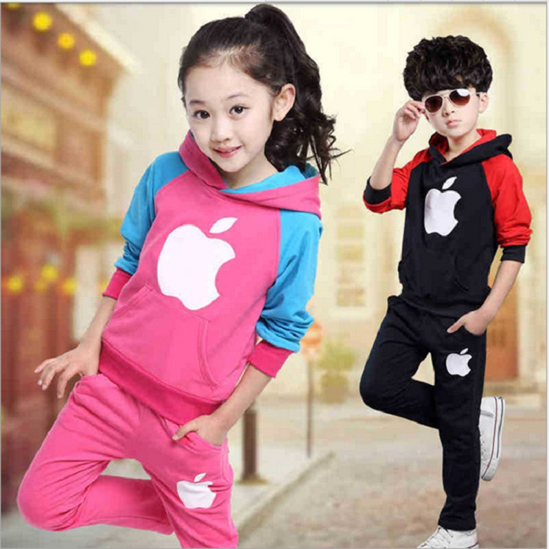 Children's Sports Suit Girls Boys School Clothing Set Baby Clothes/British Wind Fleece Suits Spring and Autumn Period 2017 new boys clothing set camouflage 3 9t boy sports suits kids clothes suit cotton boys tracksuit teenage costume long sleeve